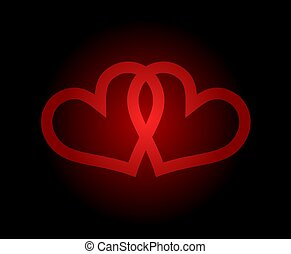 miłość, symbol, projektować, ładny