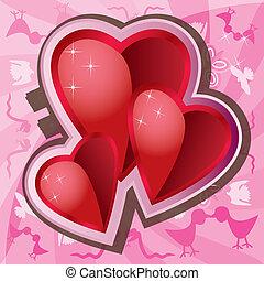 miłość, tło, valentine