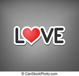 miłość, wiadomość, sztuka, ładny