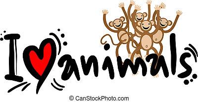 miłość, zwierzęta
