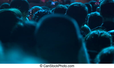 miłośnicy, muzyka ułożą, tłum