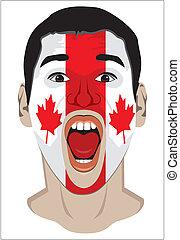 miłośnik, twarz, kanada