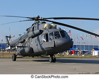 Mi-8 Russian military helicopter - Russian military...