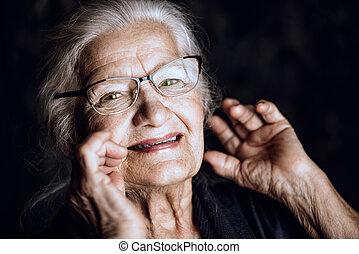 mi, anciano, abuelita