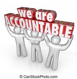 mi, bevétel, accountable, felelősség, szavak, befog, emelés
