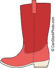 mi, botas rojas