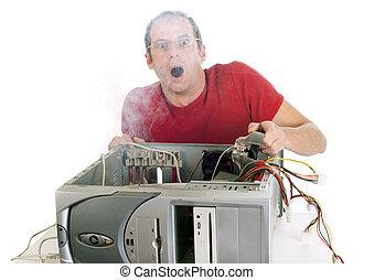 mi, computadora, es, burning!