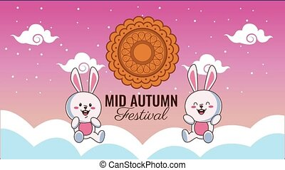 mi, dentelle, animation, nuages, festival, automne, lettrage...
