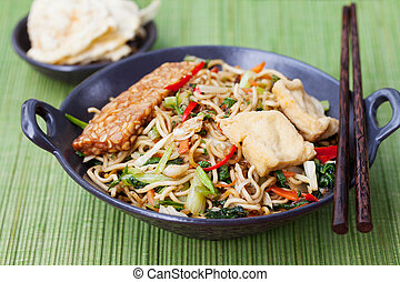 Mi goreng,mee goreng Indonesian cuisine, spicy stir fried...