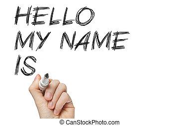mi, hola, nombre