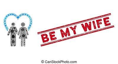mi, infección, ser, matrimonio, collage, líneas, esposa,...