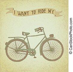 mi, paseo, bicicleta, necesidad