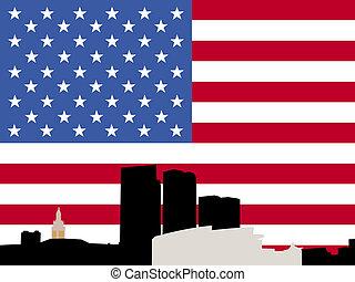 miami, bayside, bandera
