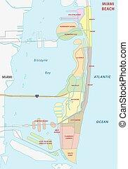miami beach administrative map