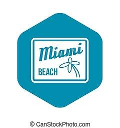Miami beach icon, simple style