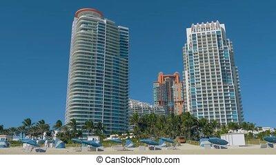 Miami Beach in Florida with luxury apartments