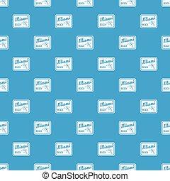 Miami beach pattern seamless blue