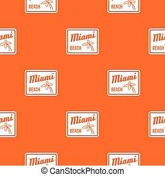 Miami beach pattern seamless