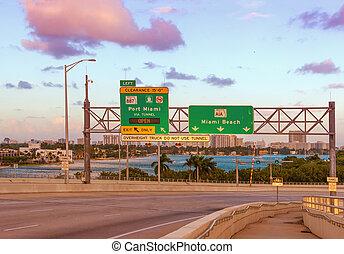 Miami Beach Road Sign