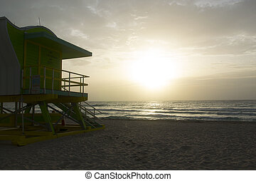 miami Beach - sunrise at miami beach