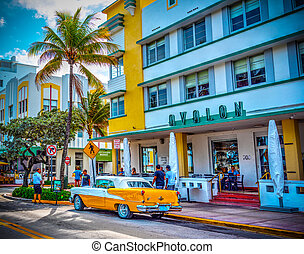 Oldsmobile Rocket 88 parked in Ocean Drive - Miami Beach, ...
