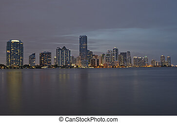 Miami city skyline panorama