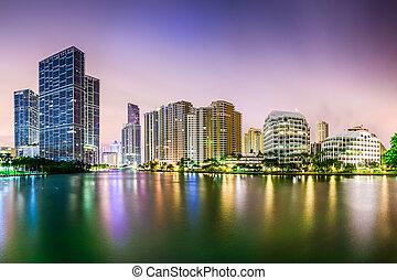 miami, cityscape, florida