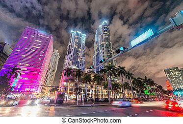Miami Downtown traffic - Florida