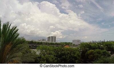 Miami Fl Skyline Time Lapse