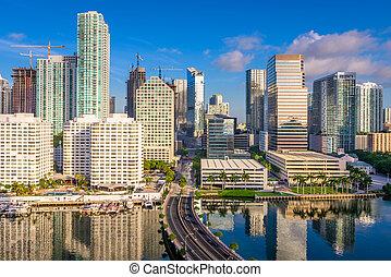 Miami Florida Cityscape - Miami, Florida, USA downtown...