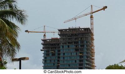 Miami Florida construction of a high rise building