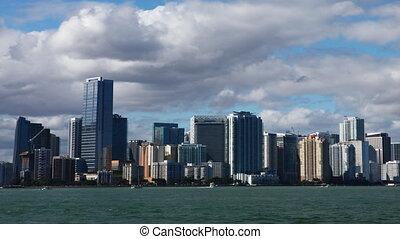 Miami, Florida skyline, a timelapse