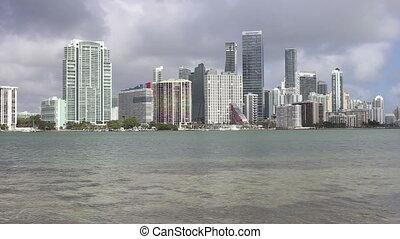 Miami Florida Skyline and ocean view - USA Florida Miami...