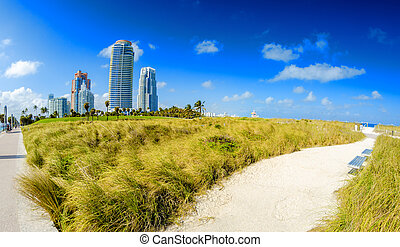 Miami, Florida. South Pointe Park and beautiful oceanfront