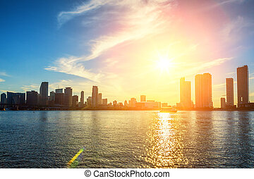 Miami Florida, sunset