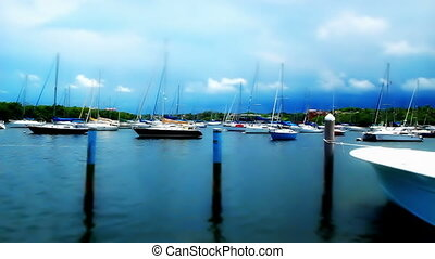 Tilt Shift Time Lapse Boats - Miami Florida Tilt Shift Time...