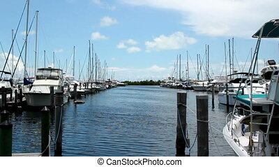 Miami Florida Harbor Boats Time Lapse