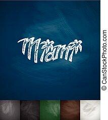MIAMI icon. Hand drawn vector illustration