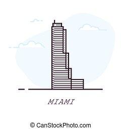 Miami line style building