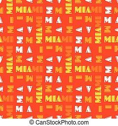 Miami pattern seamless design