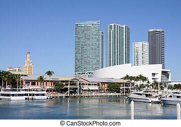 miami, puerto deportivo, bayside, florida, estados unidos de...
