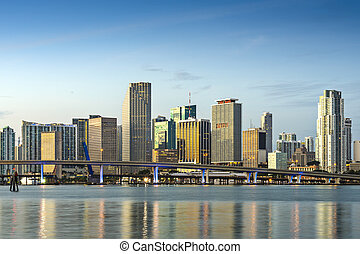 Miami Skyline - Skyline of Miami, Florida, USA.