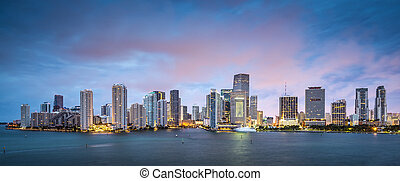 Miami Skyline - Skyline of Miami, Florida, USA at Brickell ...