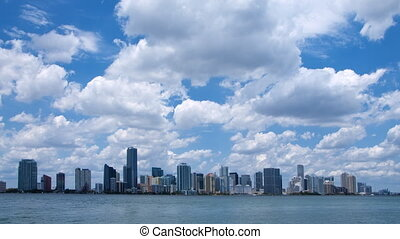 Miami skyline time lapse