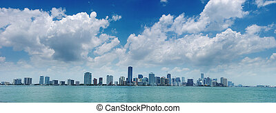 Miami Skyline - view from Key Biscayne