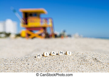 Miami south beach - Maimi Southbeach, lifeguard house with...