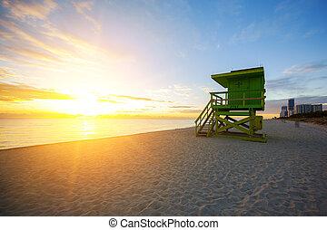Miami South Beach sunrise