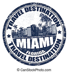 Miami stamp - Grunge rubber stamp with the name of Miami ...