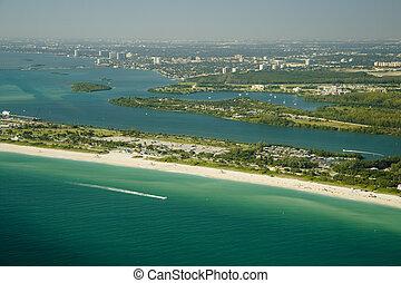 miami strand, seashore