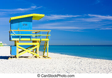 miami tengerpart, fülke, florida, usa